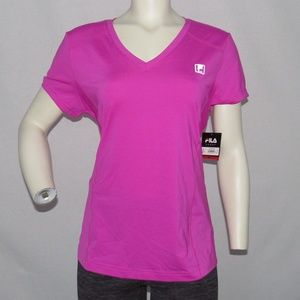 Fila Sport Activewear Workout V Neck T-Shirt